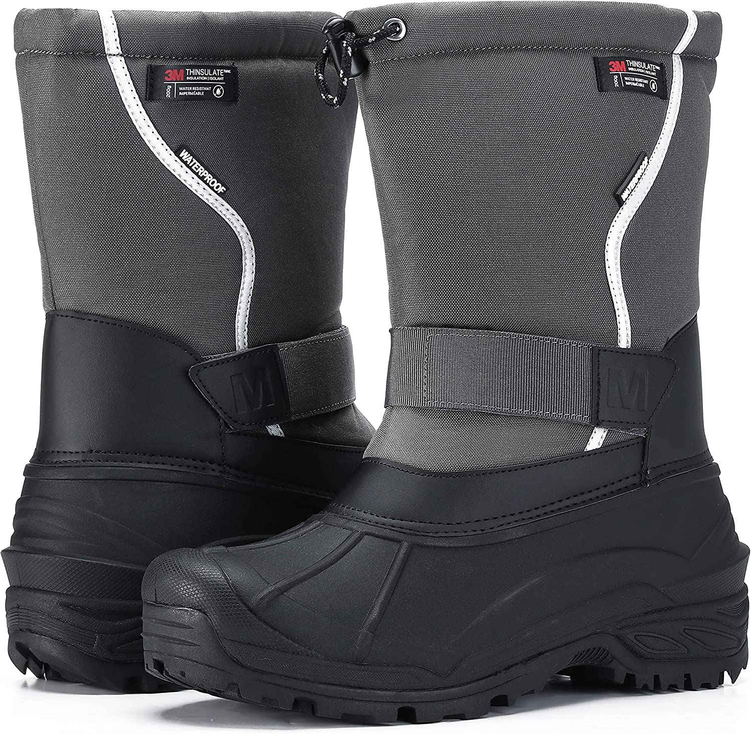 Super sale period limited MORENDL Men's Snow Boots T Waterproof Non-slip Cold-Weather Special Campaign