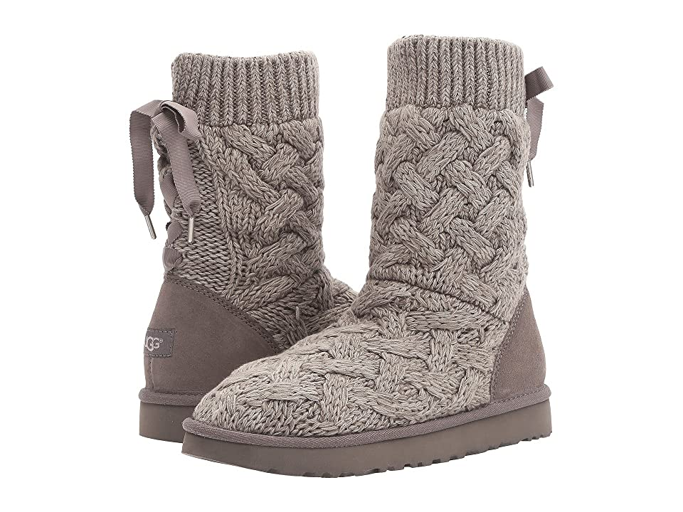 Get knitted up this season with timeless style in a cool-weather staple from UGG. Cotton knit and suede upper with a functional grosgrain lace. Easy slip-on style. UGGpure lining and insole for optimal comfort and added warmth. Molded EVA outsole with patent-protected tread design. Imported. Weight of footwear is based on a single item  not a pair.