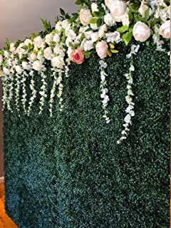 Artificial Hedge Plant, Faux Greenery Panel, UV Protected Faux Greenery Mats, Suitable for Both Outdoor or Indoor, Garden, Backyard and Home Décor, (8x8 Feet Party Drop Kit)