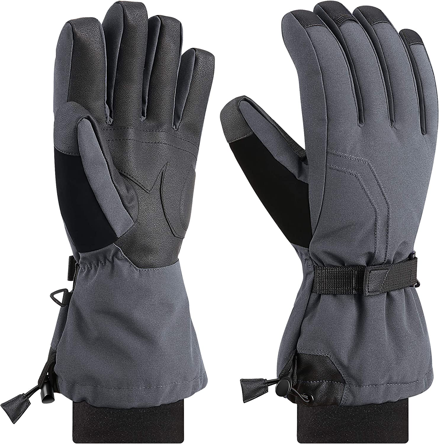 Andake 90% Duck Down Mittens Gloves For Men -20℉ Cold Weather Warm Winter Snow Gloves For Walking Jogging Work Outdoor