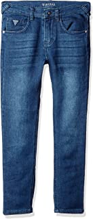 Guess Boys L64A64D2CQ0 5 Pocket Knit Denim Stretch Jeans Jeans - Blue