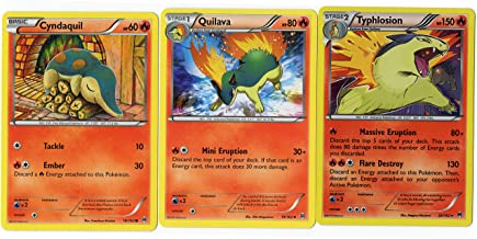 Evolution Set - TYPHLOSION QUILAVA Cyndaquil - Breakthrough 20/162 - Holo Rare Card LOT
