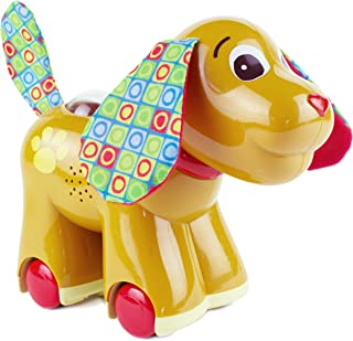 Boley Walking Friends Puppy Dog - Battery Powered Rolling Action with Music and Sounds Included - Soft Plush Tail and Ears - Perfect for Party Favors, Birthday Gifts