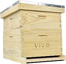 VIVO Complete Beekeeping 20 Frame Beehive Box Kit (10 Medium, 10 Deep) Langstroth Bee Hive (BEE-HV01)
