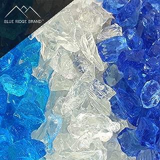 Blue Ridge Brand™ Ocean Fire Glass Blend - 50-Pound Professional Grade Fire Pit Glass - 1/2