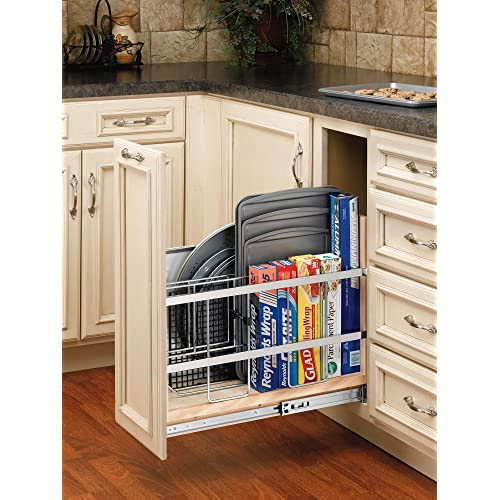 Kitchen Cabinet Pull Out Tray Divider Amazon Com