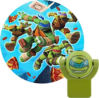 Projectables 10302 Teenage Mutant Ninja Turtles LED Plug-In Night Light, Green, Light Sensing, Auto On/Off, Projects Nickelodeon TMNT Leonardo Image on Ceiling, Wall, or Floor