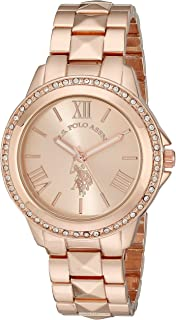 U.S. Polo Assn. Women's Watch with Crystal Studded Bezel,...