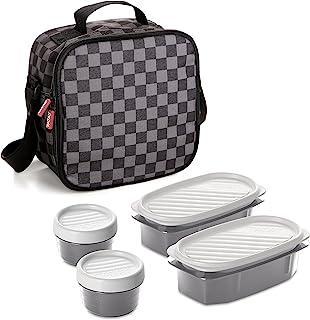 comprar comparacion TATAY Urban Food Casual - Bolsa térmica porta alimentos con 4 tapers herméticos incluidos, 3 litros de capacidad, Gris /Ne...