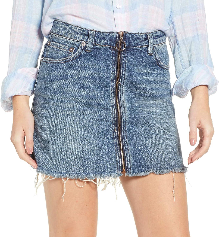 Free People Women's Mini Zip It Up Skirt