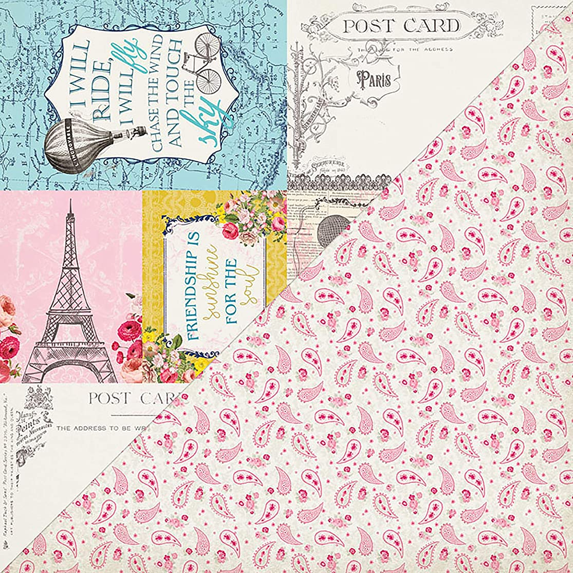 Authentique Paper # 7 Dame Double-Sided Cardstock 12