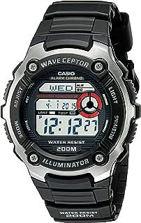 Wave Ceptor Quartz Watch with Resin Strap, Black, 16...