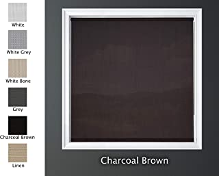 Luxr Blinds Custom-Made Solar Light Filtering Roller Window Shades 1%, 5% & 15% Transparency Indoor, Outdoor Size 21