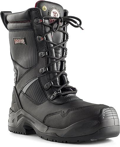 Roots Original RO60303 Iowa - Hauszapatos de seguridad para hombre (Talla 47), Color negro