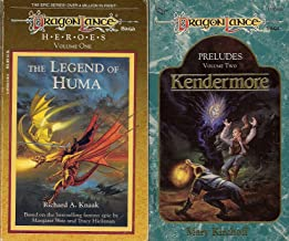 Set of 2 Dragonlance Saga Books: The Legend of Huma (Heroes, Volume 1) and Kendermore (Preludes. Volume 2)