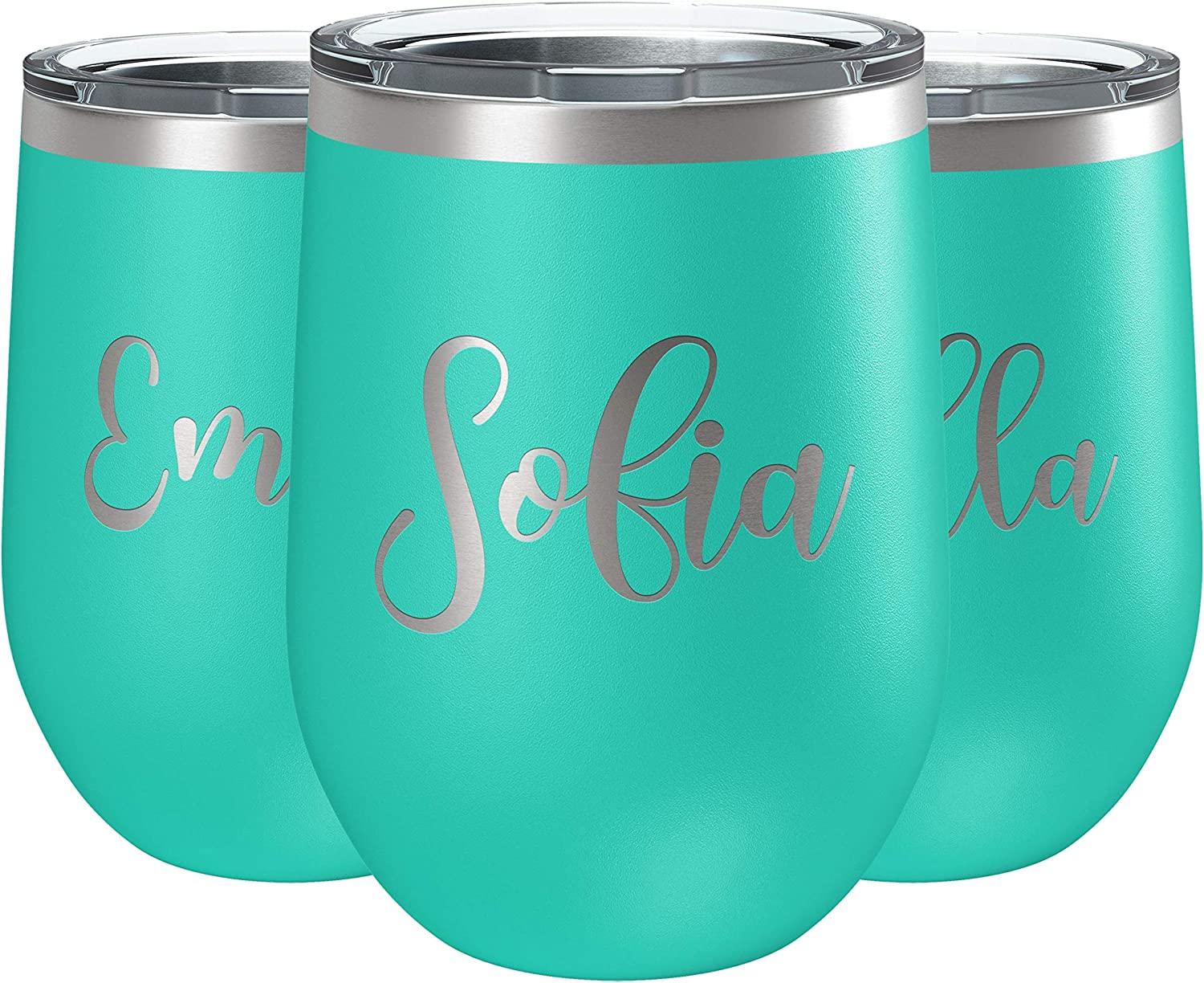 Set Manufacturer OFFicial shop of 3 Bridesmaid Wine Ranking TOP19 Tumbler with 12 T Personalized Lid oz