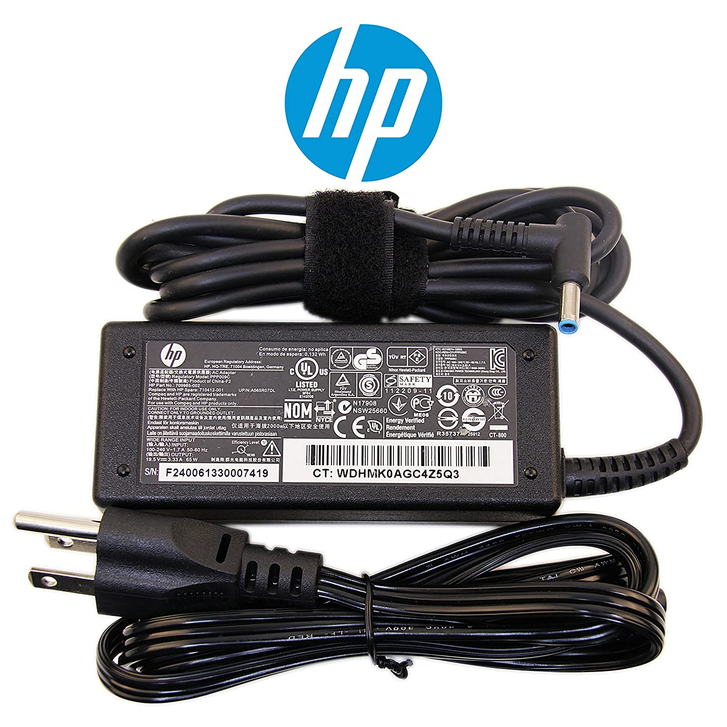 HP Compatible 65W Slim Charger for HP Pavilion 10 TouchSmart Series Laptop Notebook Power-Adapter-Cord (Original Version)