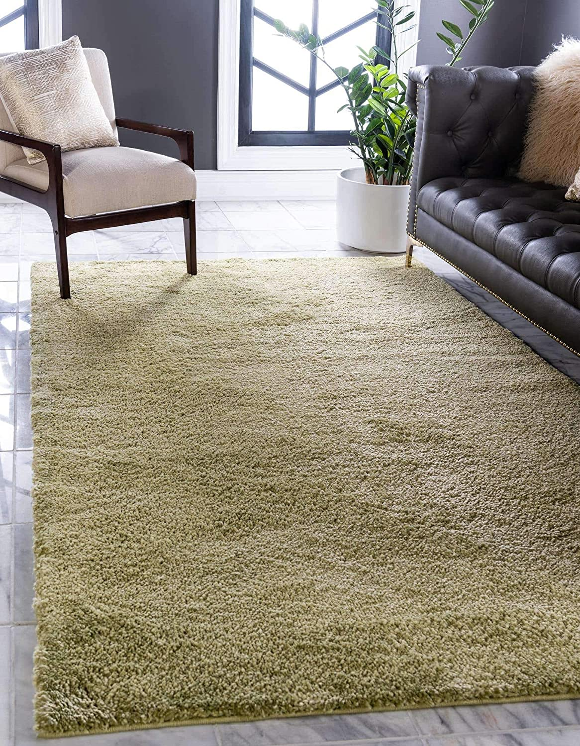Unique Loom Solo High quality new Max 44% OFF Collection Solid Plush Kids 7 7' x Area Rug 5'