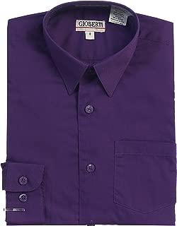 boys purple button down