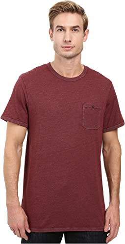 Smoked Wash Organic Pima Raw Edge Pocket Tee
