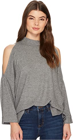 1.STATE 3/4 Sleeve Cold Shoulder Top