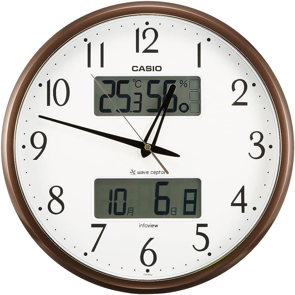 コンドーム送料ランチョンカシオ 温度?湿度計付き生活環境お知らせ掛時計 ITM-650J-5JF
