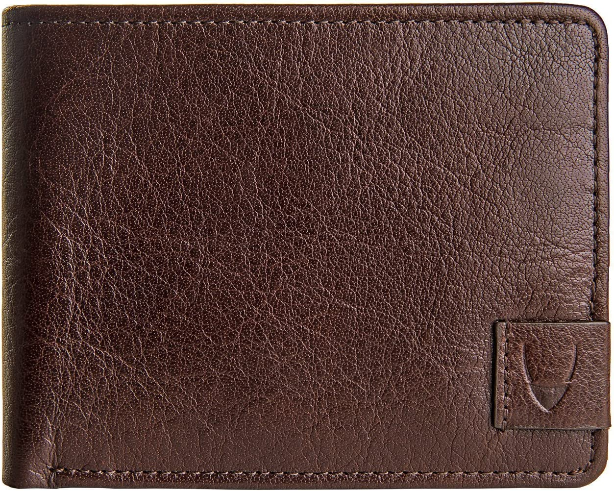 HIDESIGN Vespucci Slim Genuine Buffalo Leather Bifold Wallet with RFID Shielding Technology & 6 Card Slots - Size (L x H - 4.5 x 3.5 inches), Brown