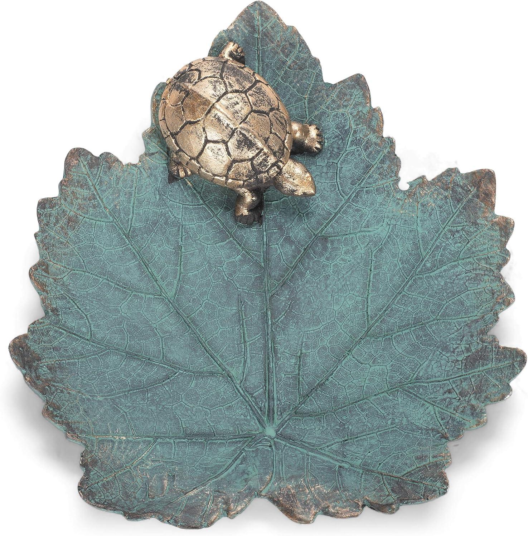 Roman 14108 Large-scale sale Turtle Leaf NEW Bird Bath 2-inch Height