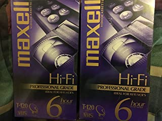 Maxell T-120 Hi-Fi Professional Grade Video Cassette 2-Pack