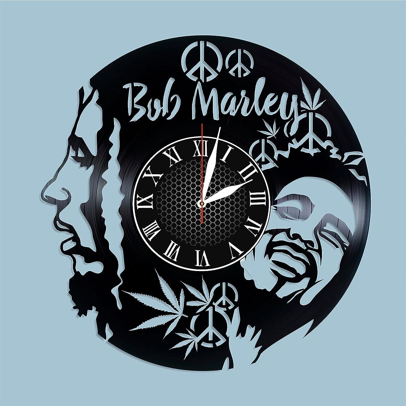 Bob Marley vinyl clock Bob Marley wall poster Bob Marley art Bob Marley decor songs Bob Marley nursery decor Bob Marley best fan gift idea