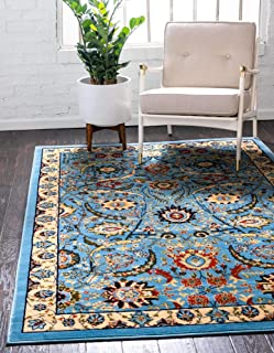 Unique Loom Espahan Collection Classic Traditional Blue Area Rug (4' 0 x 6' 0)