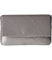 Jessica McClintock Ariella Mesh Fold-Over Flap Clutch