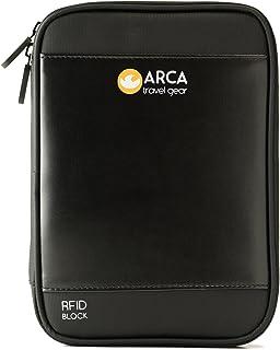 Passport Holder & Travel Document Organizer with RFID Blocking + 2 Bonuses: Shoulder Strap and E-Book