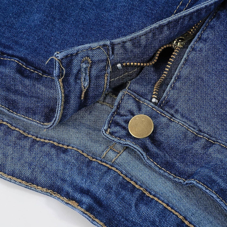 XINXX Women Jean Shorts Women Summer Irregular Waist Jean Shorts Frayed Ripped Holes Cute Sexy Hot Mini Denim Shorts