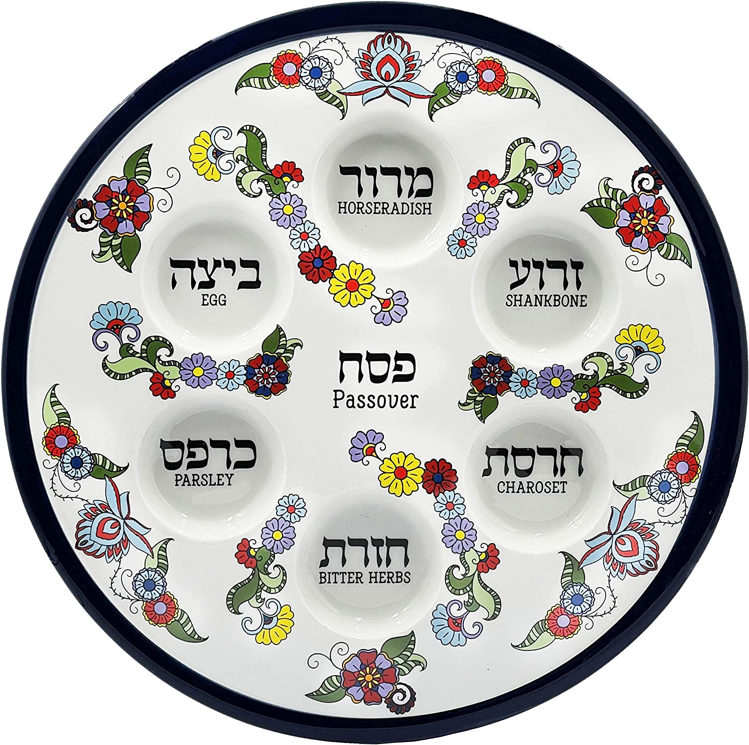 Ceramic Ranking TOP4 Passover Seder Plate online shopping With 12