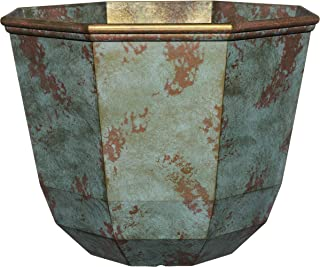 "Classic Home and Garden 8005-378R Planter, 15"" Shaina, Patina Copper"