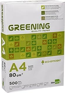 comprar comparacion Liderpapel Greening - Papel Fotocopiadora, A4, 80 Gramos, Paquete de 500 Hojas