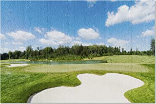 Golf course in the Sunlight Photography A-91206 (20x30 Premium 1000 Piece Jigsaw Puzzle, Made in USA!)