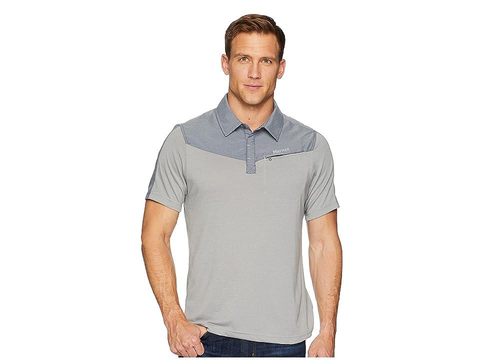 Marmot Gulch Polo Short Sleeve (Grey Storm/Steel Onyx Heather) Men