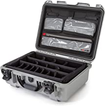 Nanuk 930 Waterproof Hard Case with Lid Organizer and Padded Divider - Silver