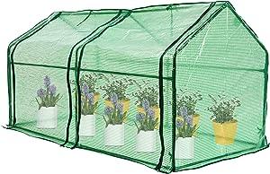 Mini Greenhouse, Mini Portable Greenhouse with Zipper Doors, 71'' x 36'' x 36'' Portable Hot House for Garden, Patio, Home, Backyard