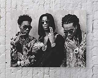 LLp Migos Poster Standard Size   18-Inches by 24-Inches   Migos - Hip hop, Trap - Quavo, Offset and Takeoff Wall Poster Print