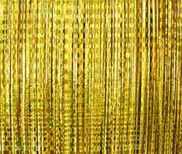 2 Pack - Foil Fringe Curtain Photo Booth Backdrop Party Decoration - 3FT x 8FT (Gold Metallic Sparkle) Fun for Bachelorette, Wedding, Birthday or Academy Award Oscar Parties - Easy DIY Photobooth