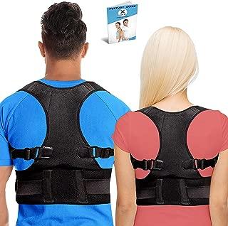 Posture Corrector for Men and Women - USA Designed - Comfortable & Adjustable Back Brace for Back,  Shoulder & Neck Pain - Improves Posture and Provides Full Clavicle Support (L)