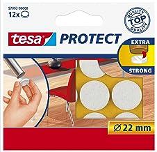 Tesa Oppervlaktebeschermers, Anti Scratch Zelfklevend Vilt Rond 18 Mm Dia, Wit (16 Pads) (Oude Versie) 22 mm Diameter/12 P...