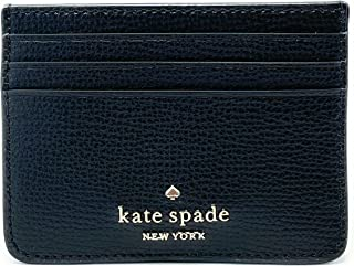 KATE SPADE NEW YORK DARCY SMALL SLIM CARD HOLDER WALLET LEATHER BLACK
