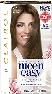 Clairol Nice'n Easy Permanent Hair Color, 6A Light Ash Brown, 1 Count