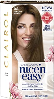Clairol Nice 'n Easy Permanent Color, 6A Light Ash Brown, 1 Count (Packaging May Vary)