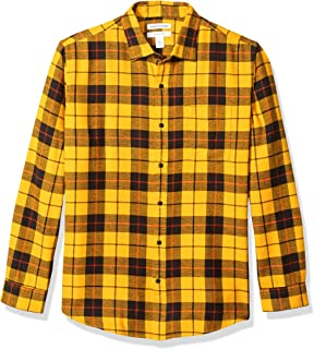 pipigo Men Classic Fit Button Down Flannel Buffalo Plaid Casual Long Sleeve Shirts