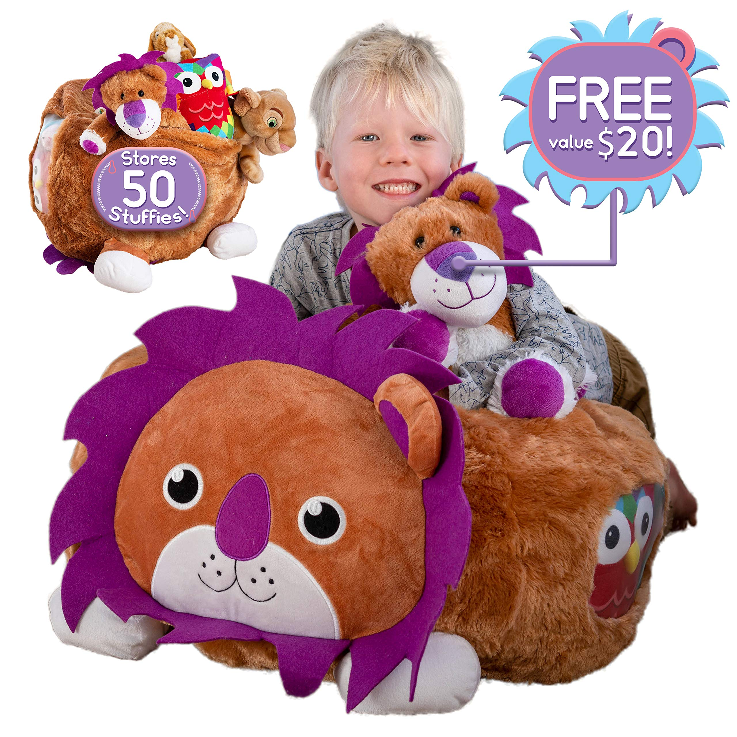 Fur Real Stuffed Animals, Hugable Lion Bean Bag Stuffed Animal Sto Buy Online In Canada At Desertcart